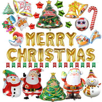 Merry Christmas Gift.Merry Christmas Tree Santa Claus Foil Balloon Christmas Gift Box Christmas Bell Snowman Non Latex Balloons For Party Buy Christmas Balloon Santa