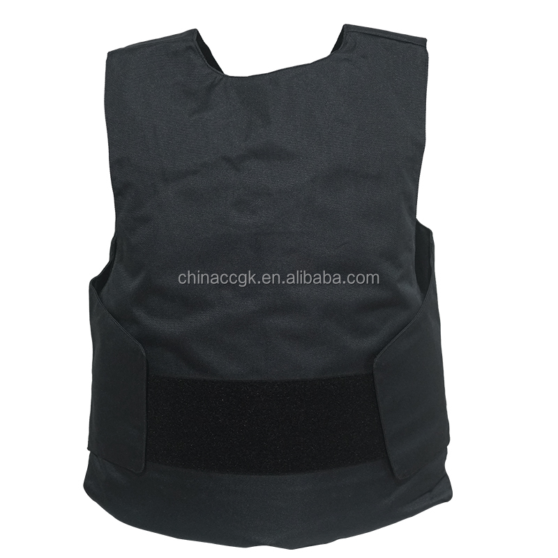Black Suit Type concealable body armor tactical aramid&PE bulletproof NIJ IIIA