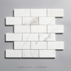 48x96 white polished brick pattern mosaic tile for kitchen backsplash