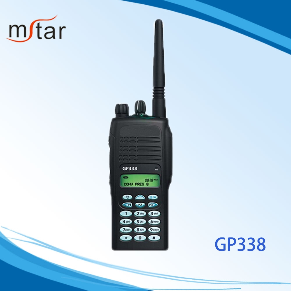 5w Interphone Digital Two Radio GP338 Walkie Talkie 10km