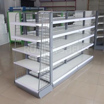 Shelf Of Mini Market Spray Paint Metal Display Steel Racks For Plate