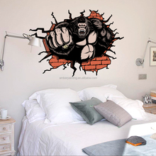 Kong Kim salon removable vinyl wall decals animals for home decor