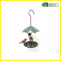 Umbrella Shape Hanging Metal Bird Feeder Window Bird Feeder
