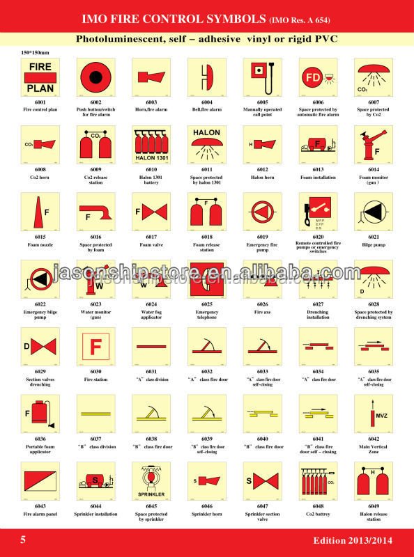 Marine Wholesale Imo Fire Control Symbol Buy Fire Safety Symbol