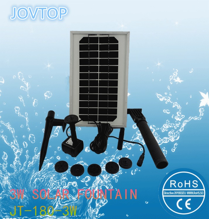 3w mini outdoor solar fountain for garden
