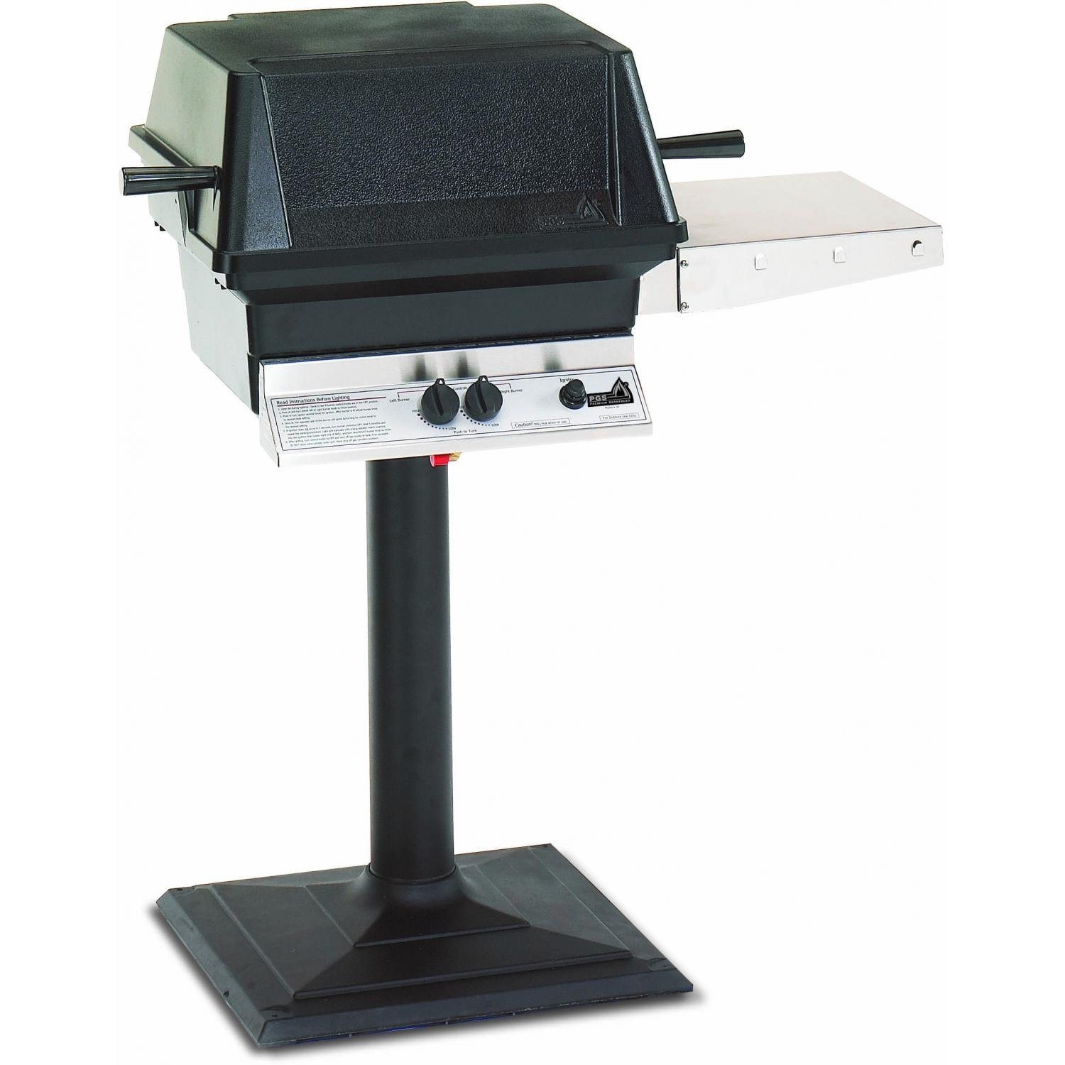 Pgs A30 Cast Aluminum Propane Gas Grill On Bolt-down Patio Post