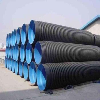 China Factory Price SN 8 300mm Diameter Double Wall Corrugated HDPE Drainage Pipe