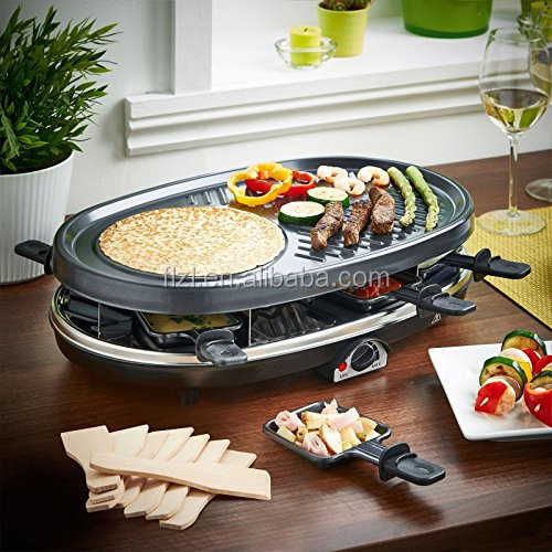 Electric Non-stick BBQ raclette grill Plate for up to 8 Persons,Elecrtric hot plate,grill pan