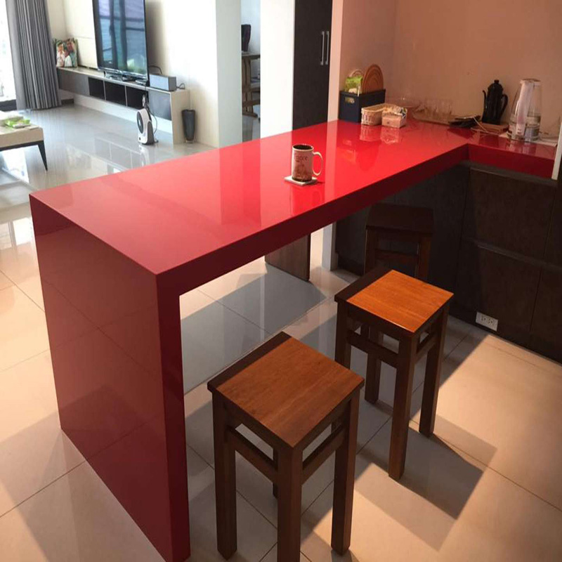 Artificial stone solid surface dining table modified kitchen acrylic countertop