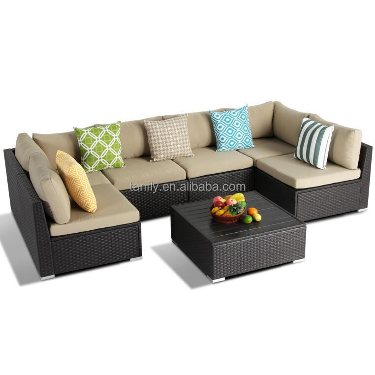 Sectional Coffee table Rattan Wicker Garden Furniture Conservatory Patio Sofa Set/rattan wicker outdoor sofa set