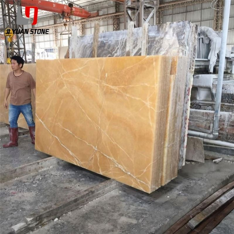 Excellent Choice Backlit Marble Yellow Honey Onyx For Decoration