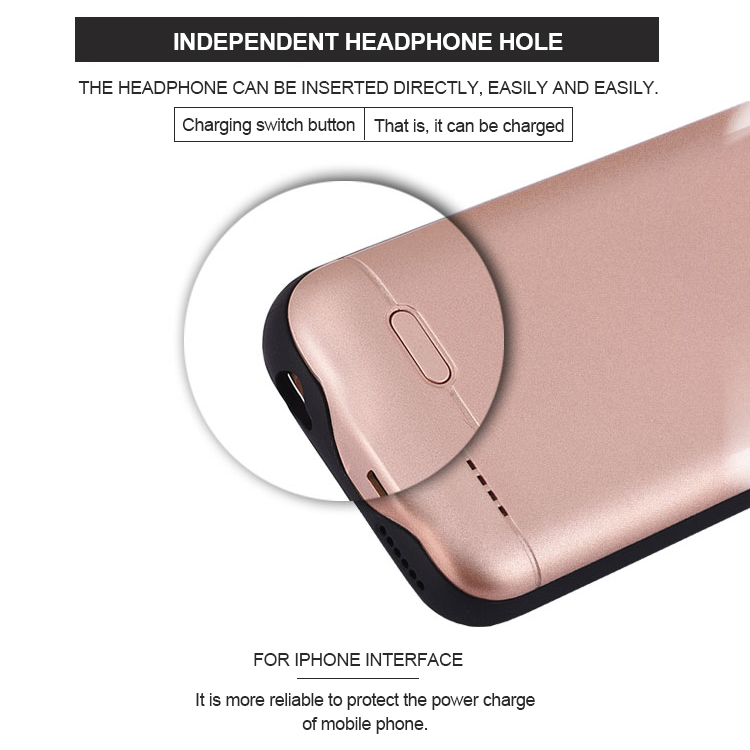 2018 Wireless Charging Backup Telefon Fall Batterie i6/6 s power