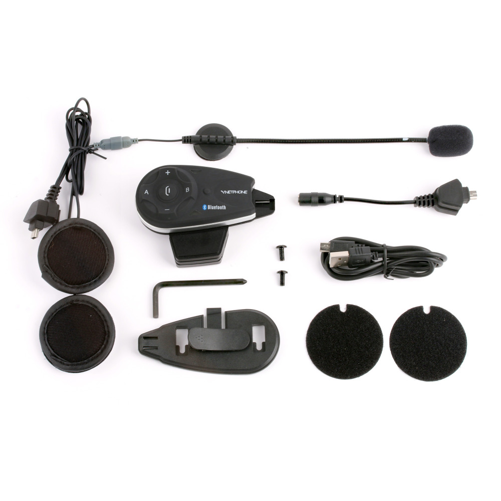 NEW V5 5riders 1200m full duplex talking same time bluetooth motorcycle helmet radio communication intercom