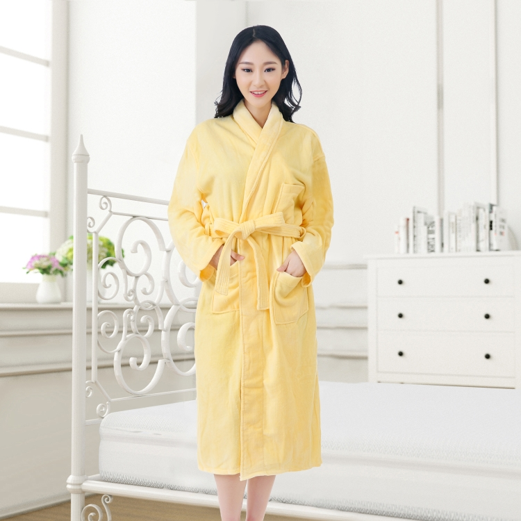 Trendy design high quality 100% cotton hotel or home bathrobe