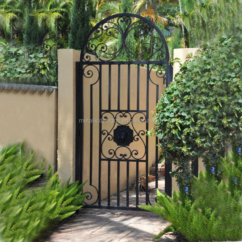 Decorative Wrought Iron pedestrian gates Garden Metal Fence Gate, View  garden arch wrought iron gate, YUANYANGHUI Product Details from Beijing