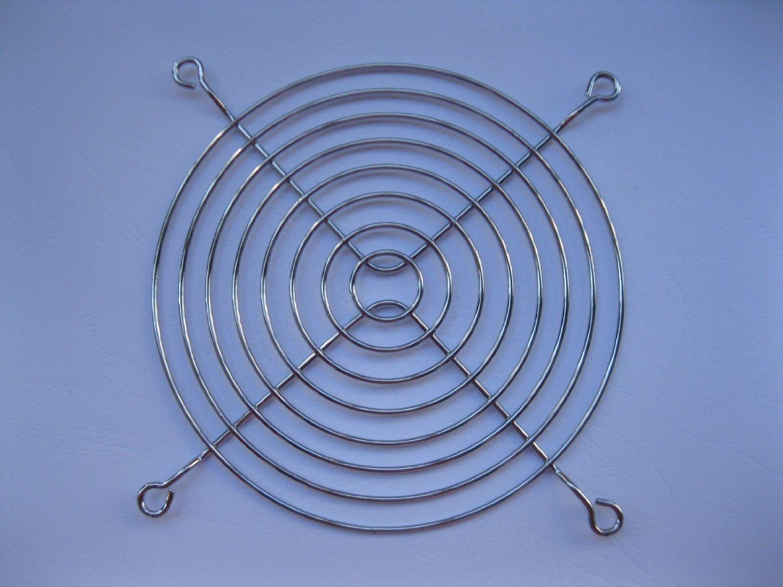10 Pcs DC Fan Grill Protector Silver Metal Finger Guard Used for 120x120mm Fan 12cm