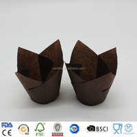 Greaseproof Tulip Disposable Paper Tulip muffin baking cups