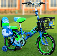 pink blue children bicycle for girl and boys 2018 new style folding bicycle 4 wheels cute desgin CE SGS certificate kid bicycle