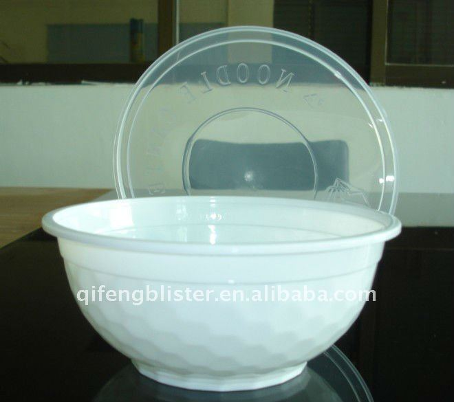 Ps Disposable Microwave Crystal Bowl Plastic Food Container With Lid