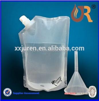 Plastic Liquor Pouches Rum Runner Wine Spout Bag Flask