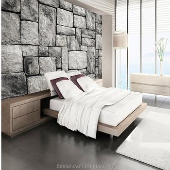 Moderno Decorativo Adhesivo Murales Vinilo 3d Piedra Tv Murales De