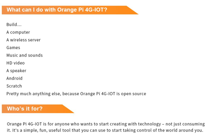 Hot Jual Orange Pi 4G-IOT 1G Cortex-A53 8 GB E MMC Dukungan Kartu SIM 4G Bluetooth Android6.0 Mini PC