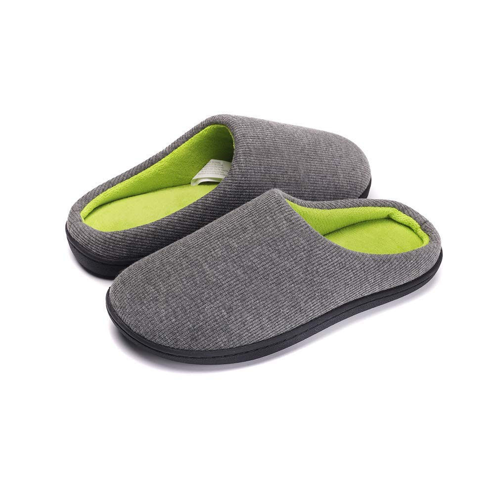 Women Cozy Fleece Slippers Memory Foam Plush Lining Anti Slip House Shoes w/Anti-Slip Sole, Indoor/Outdoor