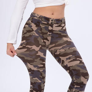 Royal wolf new arrive military gym wear butt lift printed yoga leggings  sexy camo workout pants ladies