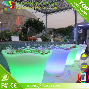 CE&ROHS approved Waterproof Glowing led ice bucket /moblie food stands/pine apple ice bucket
