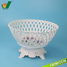 large capacity plastic food tray with hole round dried fruit tray