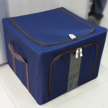 Wholesale Metal Oxford Fabric Folding Storage Box popular OEM Design Polyester Storage Bins