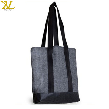 Cotton Canvas Simple Tall Tote Mens Beach Bag For Men