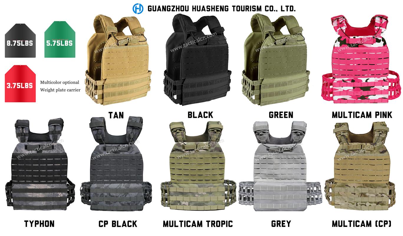 8 colori opzione Professionale attrezzature da palestra Molle Piastra di Supporto per il fitness di peso della maglia per la formazione