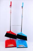 plastic long handle dustpan and broom set