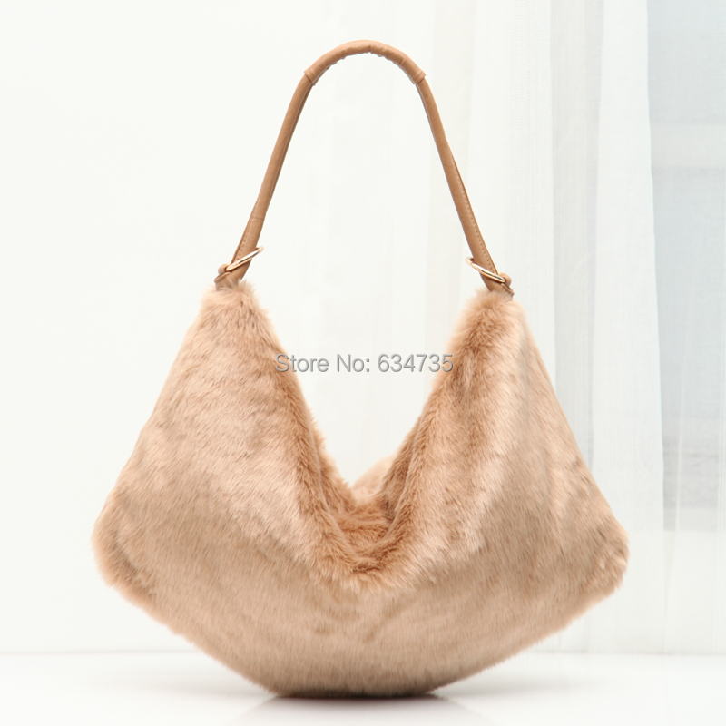 4fc65adbe0d7 Get Quotations · 2015 Lady Women Handbag Tote Purse Fake Fur Bags Large  Capacity Women Messenger Hobo Bag