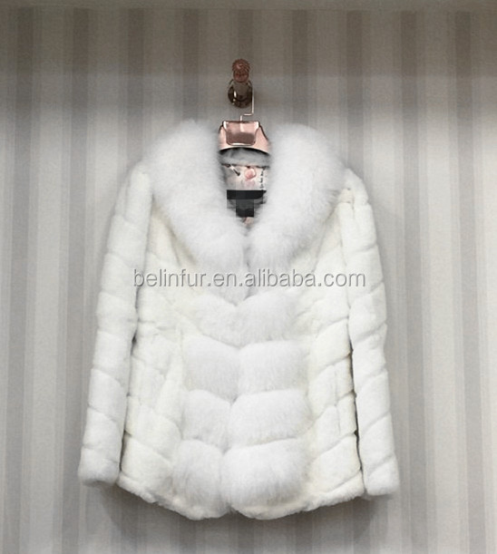 Wholesale Cheap Luxury Style Winter Women Real Rabbit Fur Coat