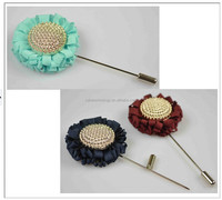 sunflower Fashion fabric flower lapel Brooch