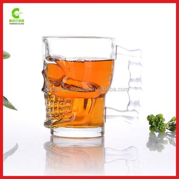 Cool Barware Skull Glass Cup, 500 Ml Skull Whisky Glass Bottle