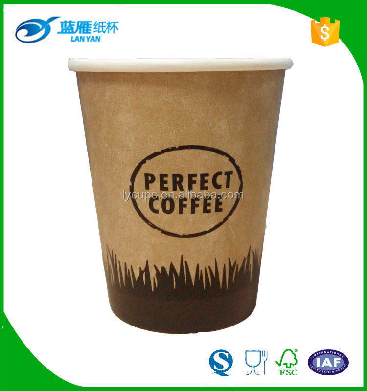 8oz printed disposable recycled paper coffee <strong>cups</strong> with big logo