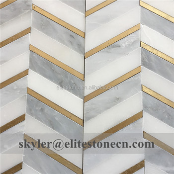 Br Inlay Marble Water Jet Mosaic