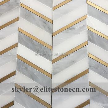 Brass Inlay Marble Water Jet Mosaic Kitchen Backsplash Tile - Buy Kitchen  Backsplash Tile,Water Jet Mosaic Kitchen Tile,Backsplash Tile Product on ...