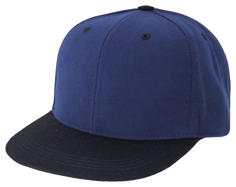 89a7f275e9870 Get Quotations · Two Tone Retro Flat Bill Snapback Baseball Cap (One Size
