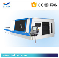 Fast speed fiber metal laser cutter / stainless steel laser cutting machine 500W 1000W 2000W 3000W