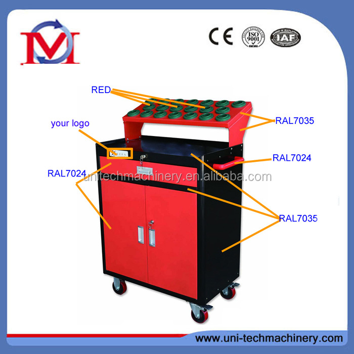 cnc combination tool cart for cutter storage