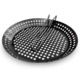 Heavy duty non-stick round basket grill pan rust resistant foldable extended long handle thick steel BBQ griddle pan