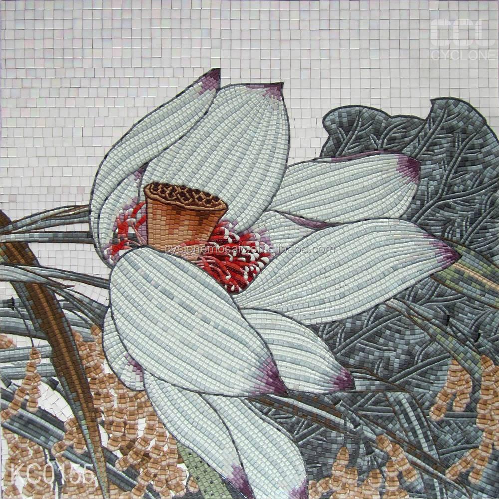 Lotus Flower Glass Mosaic Pattern Artlotus Mosaic Picture Buy