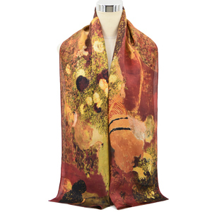 photo print turkish silk scarf