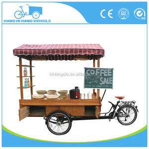 outdoor push new model coffee bike electric food trailer on hot sale