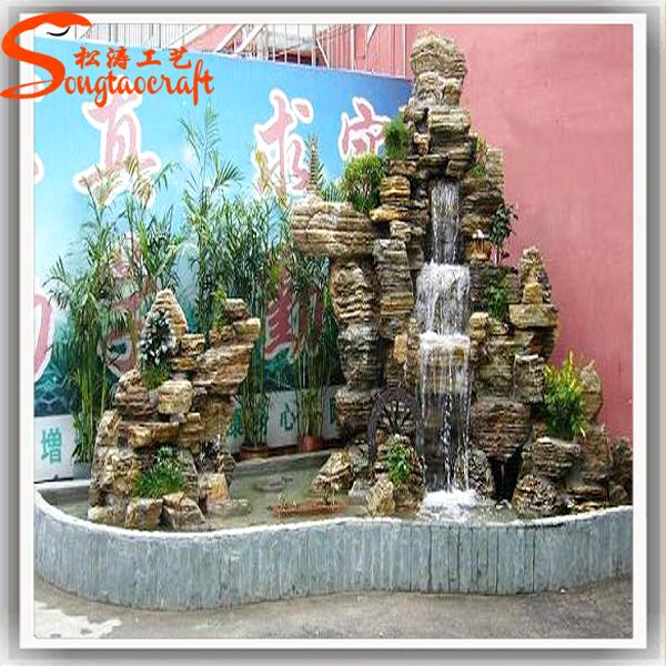 stilizzato tutti i tipi di muro del giardino fontana