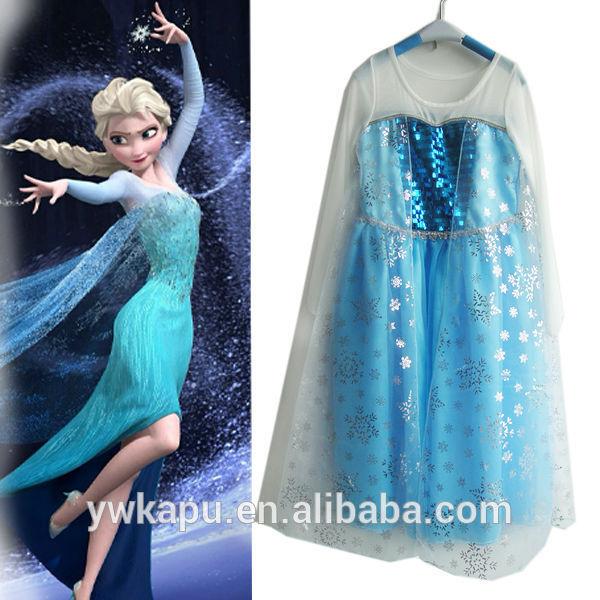 Elsa Congelados Vestido Menina Vestido Congelados Frozen